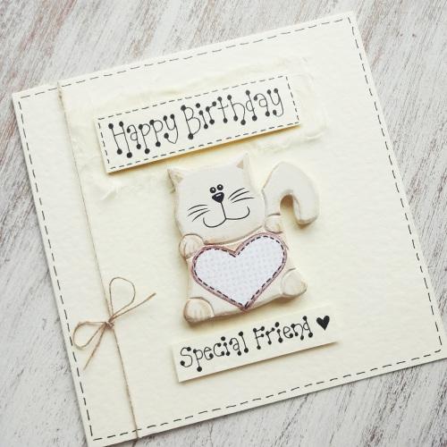 Special friend cat card