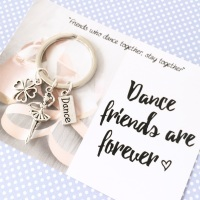 Dance Friends Forever Keyring