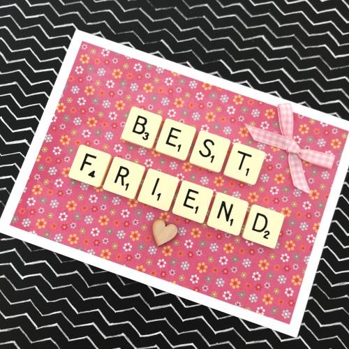 Scrabble best friend card
