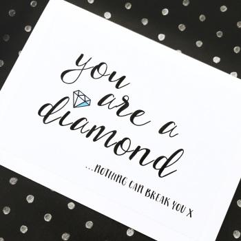 Diamond support card