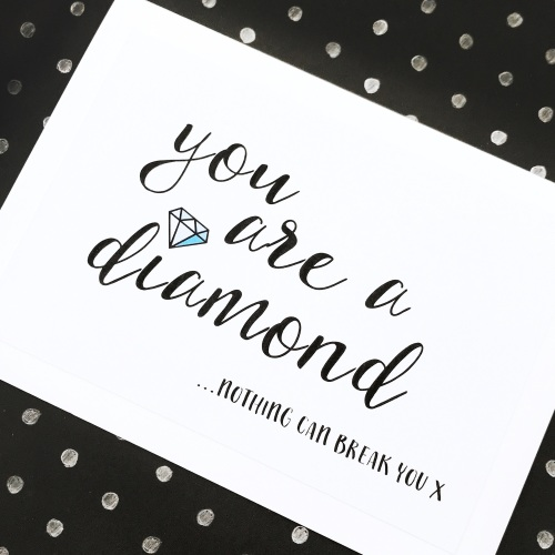 Diamond support card