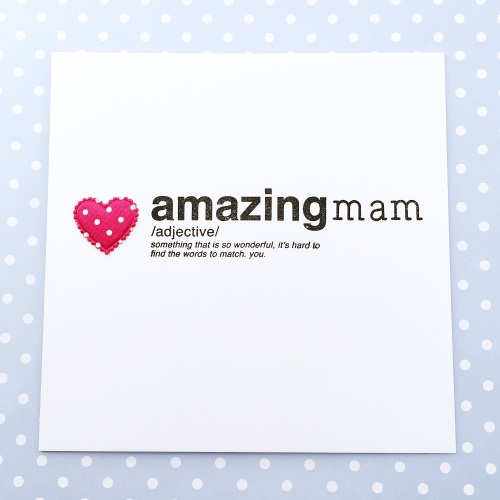 Mam amazing card