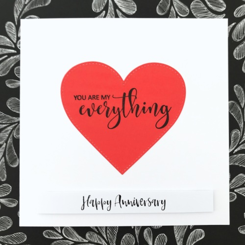 'You are my everything' anniversary card