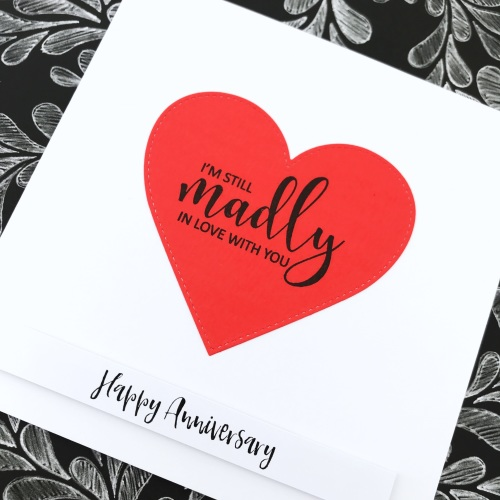 Madly in love with you card
