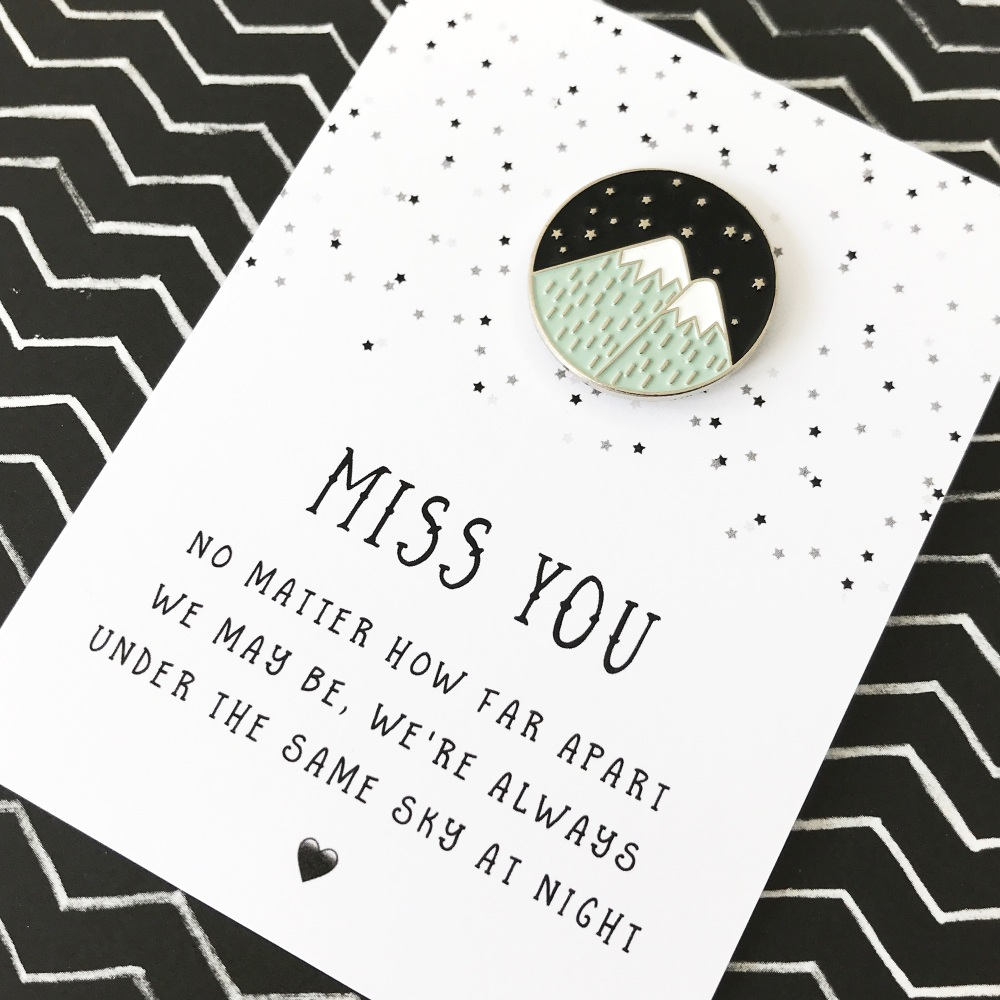 Miss you pin