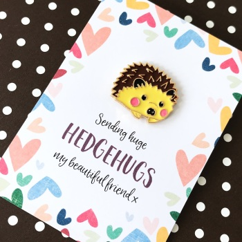 Hedgehug pin gift
