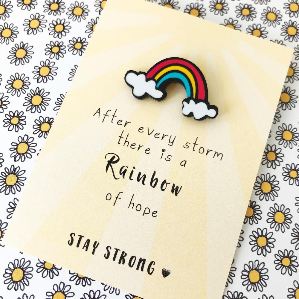 Rainbow pin gift