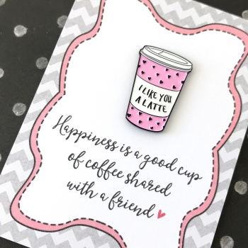Coffee friends pin gift