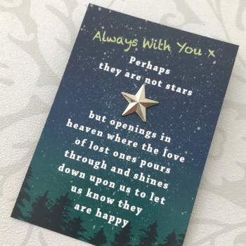 Star Memorial Pin Gift