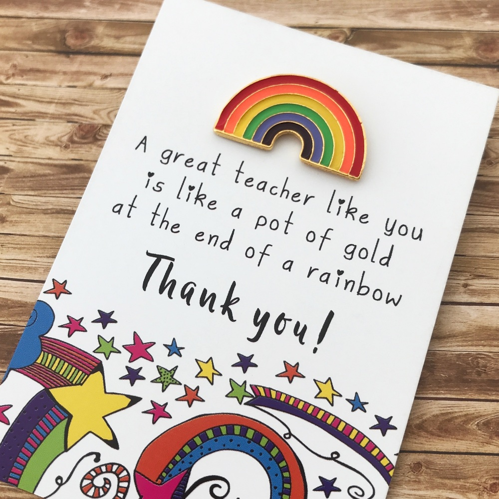 Great Teacher pin gift