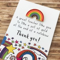 Great Teacher Rainbow Pin