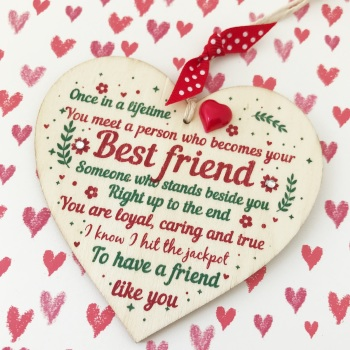 Best Friend Heart Plaque