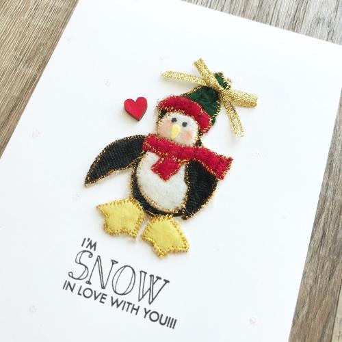 Love you penguin card