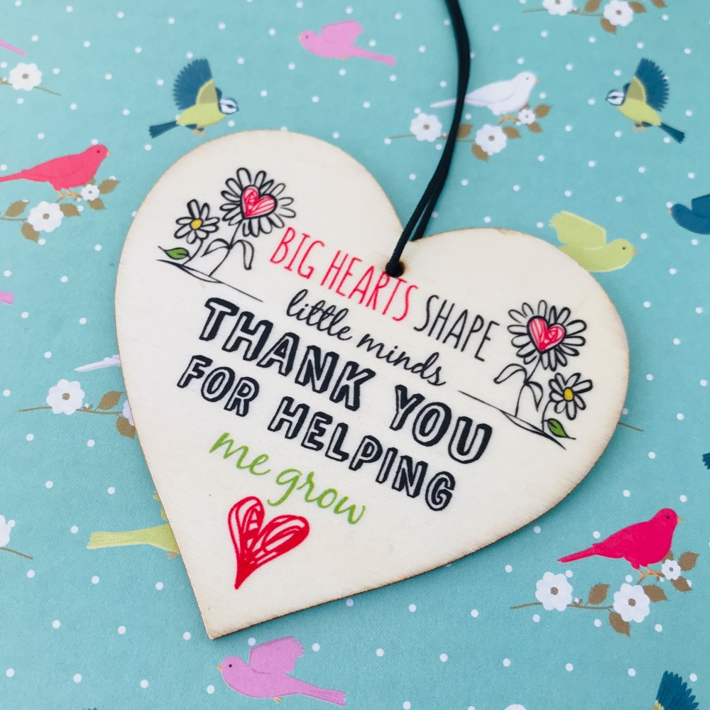 Big heart nursery teacher gift