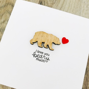 Love you beary much Anniversary card