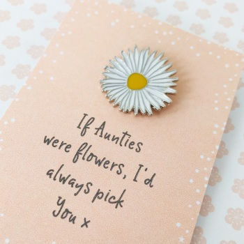 Auntie flower pin