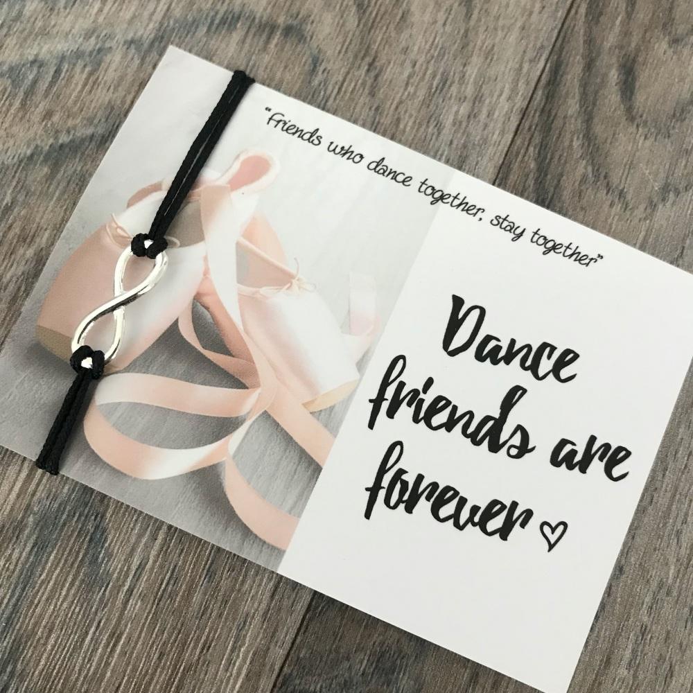 Dance friends are forever bracelet