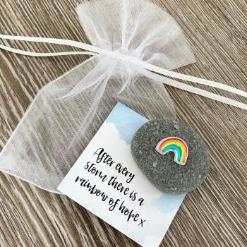 Rainbow Of Hope Pebble
