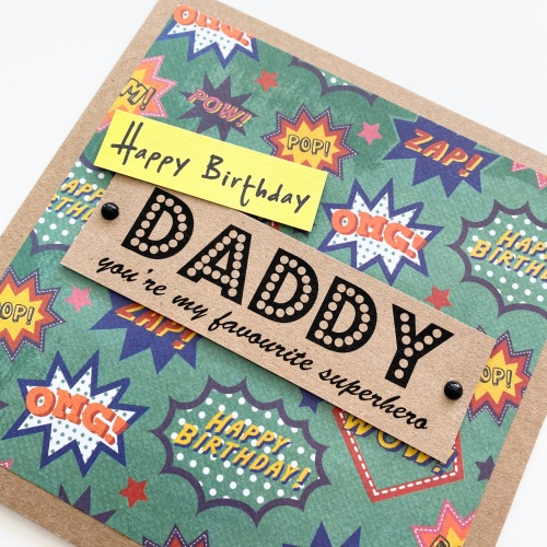 Daddy my superhero card