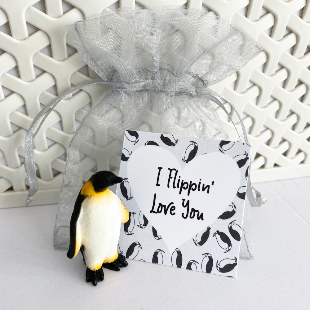 Flippin' love you penguin gift