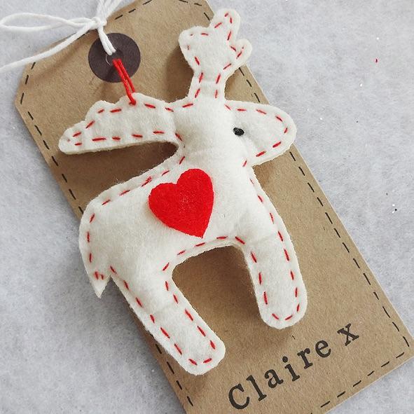 Felt personalised reindeer