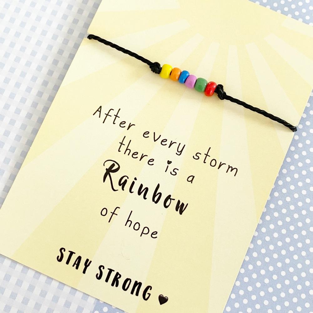 Rainbow bracelet gift