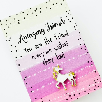 Amazing Friend Unicorn Pin