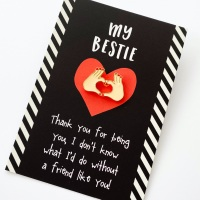 My Bestie Friendship Pin