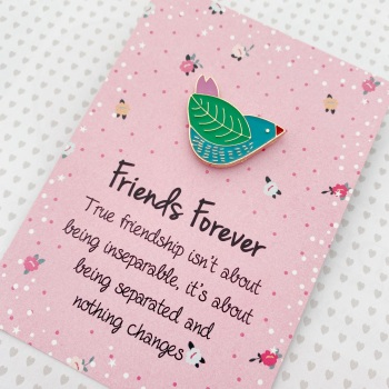 Friends Forever Bird Pin