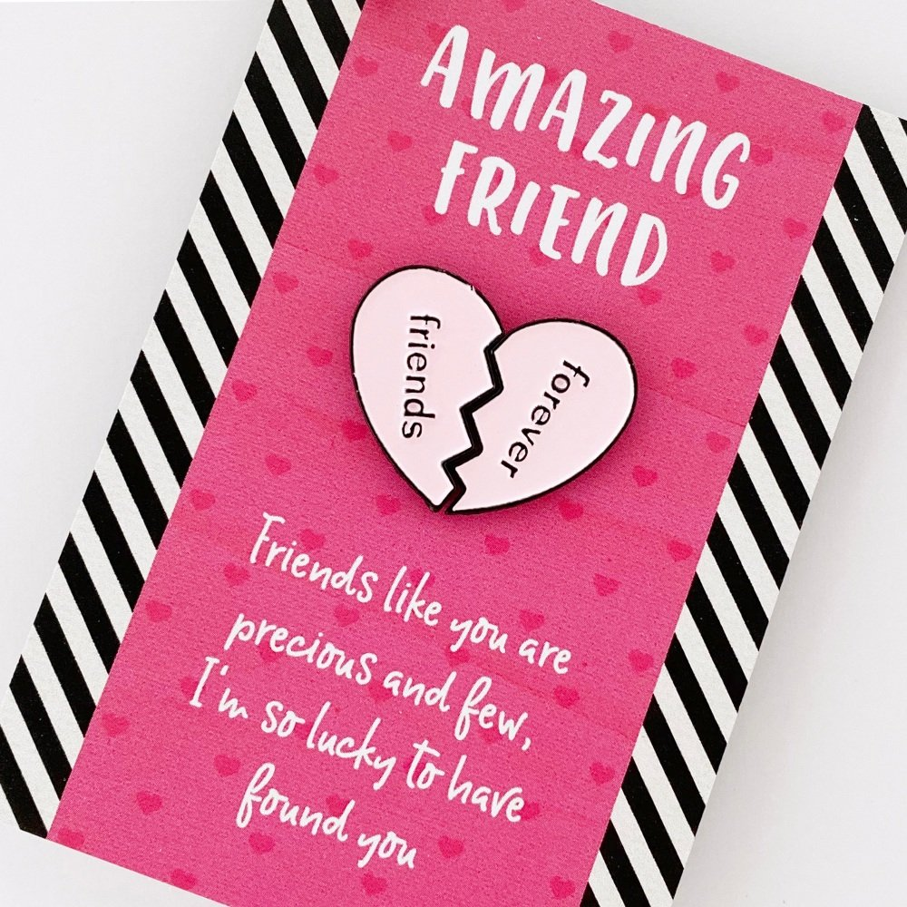 Friends Forever Heart pin