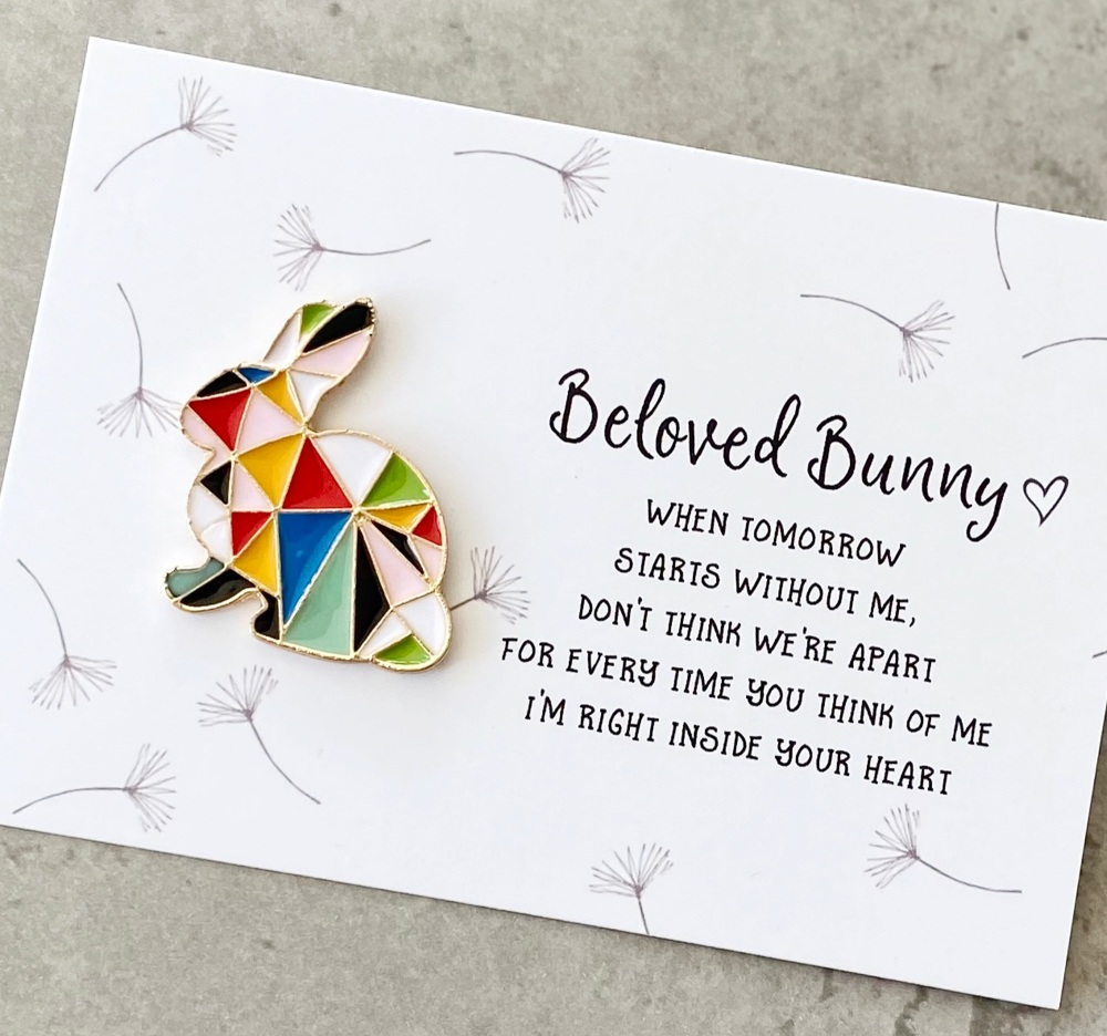 In Memory Of Beloved Rabbit Pin