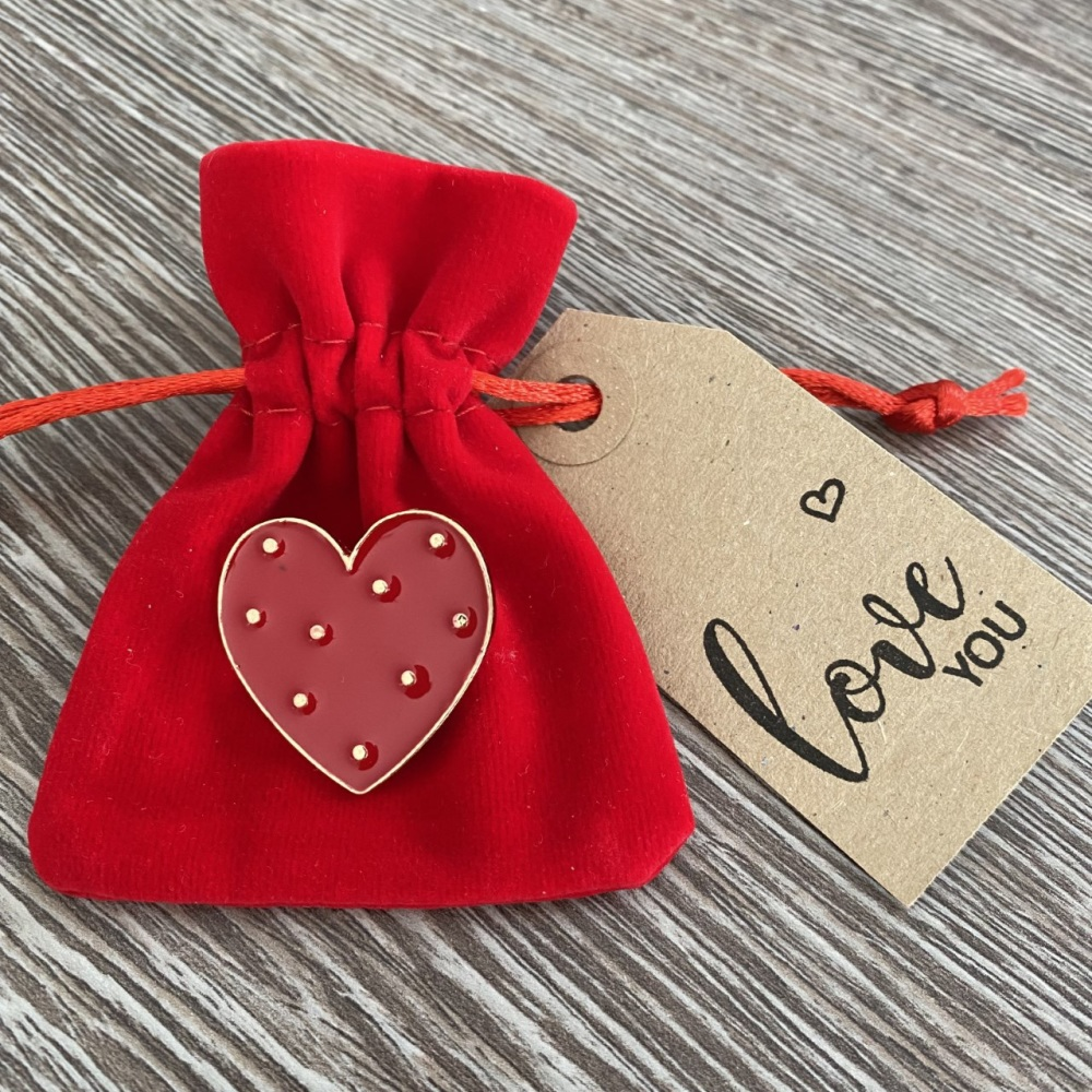Love You Heart Pin