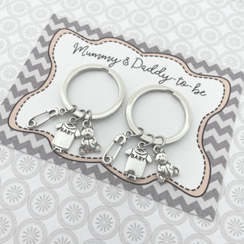 Duo Mummy & Daddy-To-Be Keyrings