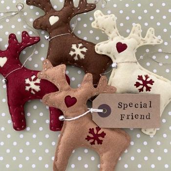 Felt Personalised Reindeers