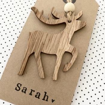 Personalised Mini Reindeers
