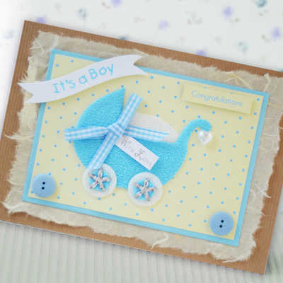 personalised baby boy pram card