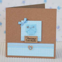 Personalised baby boy nappy card