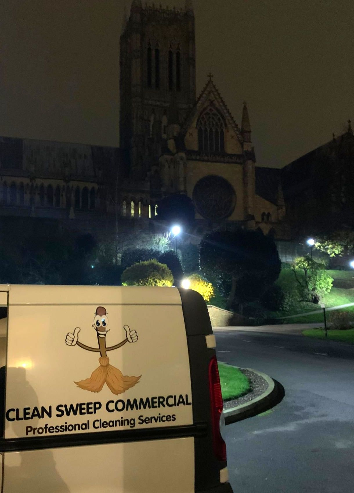 Clean Sweep Commercial Van Outside Lincoln Cathedral