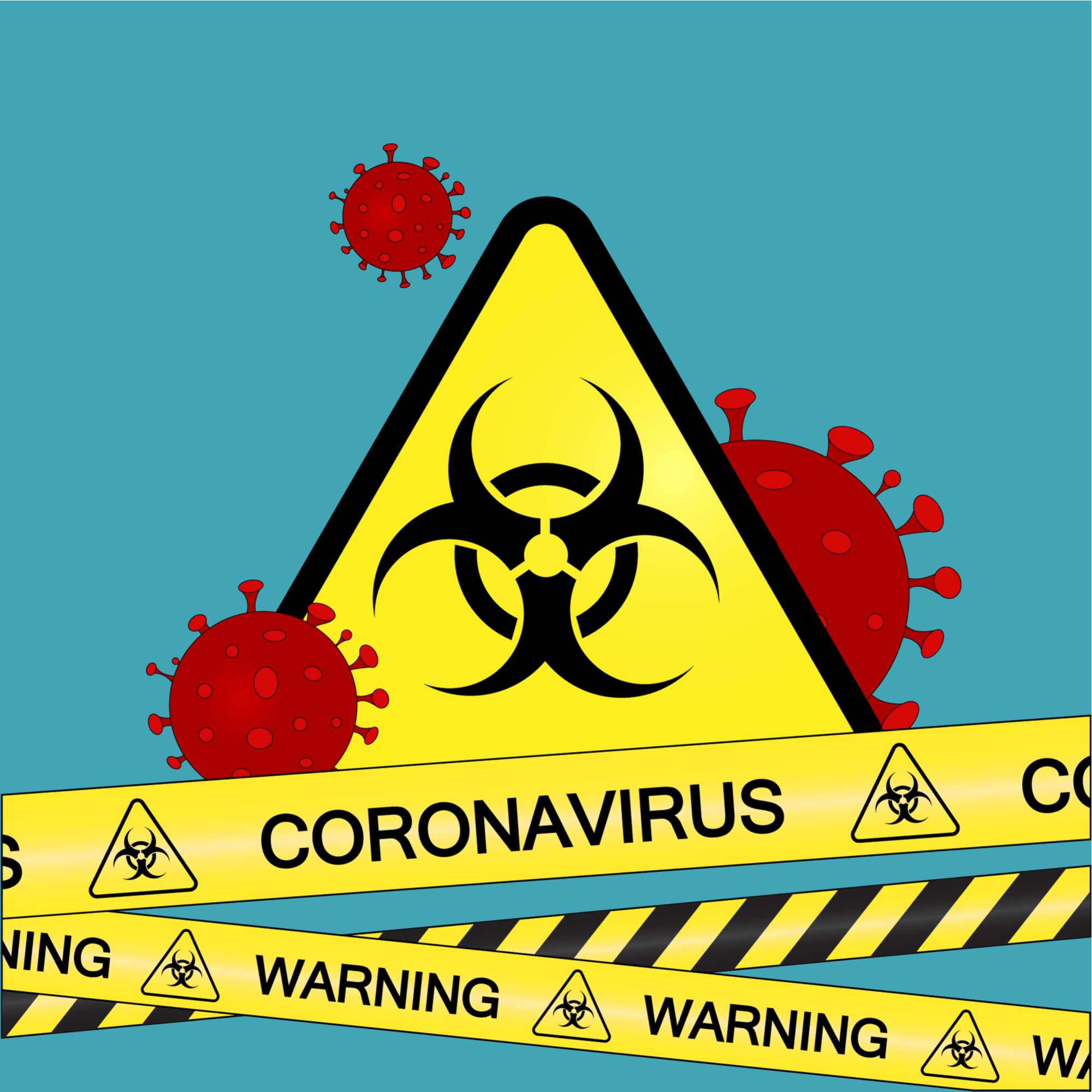 Warning Coronavirus Keep Out