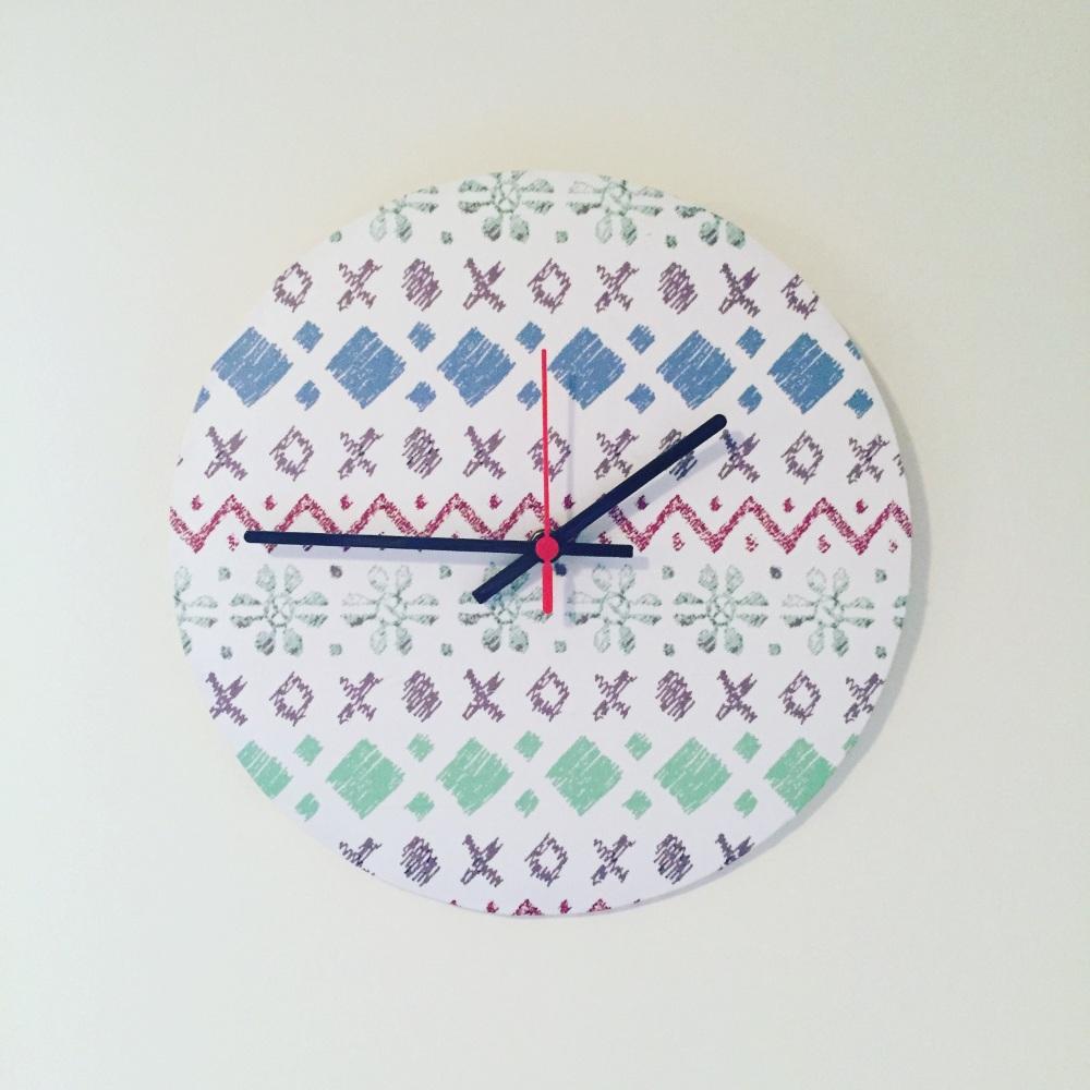 Clock - Fair Isle Pattern