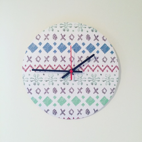 Clock - Fair Isle Pattern