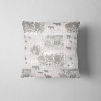 Gaddering Da Peats - Luxury Shetland Tweed Cushion