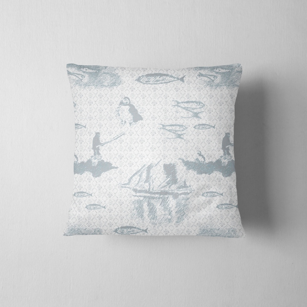 Tammie Norie Fishing - Luxury handmade Cushion