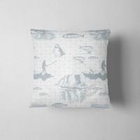 Tammie Norie Fishing - Luxury Shetland Tweed Cushion