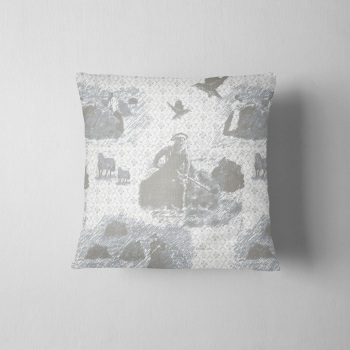Turning Da Hay - Luxury Shetland Tweed Cushion