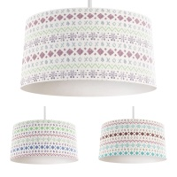 Fair Isle Colour Mix - Original lampshade
