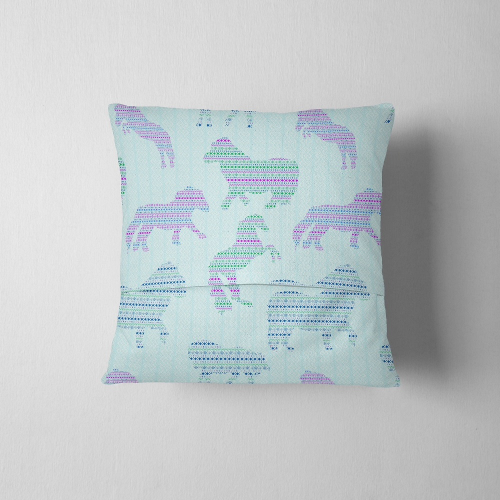 Fair Isle Dancing Ponies - Original Cushion