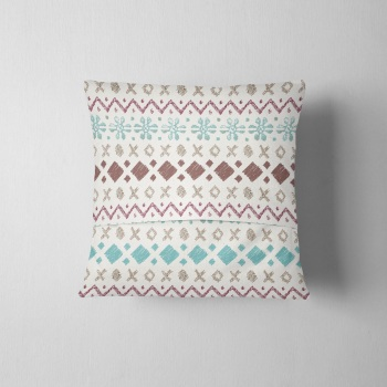 Fair Isle Colour Mix - Original Cushion
