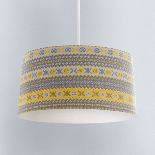 Granny's Fairisle - Lampshade Yellow