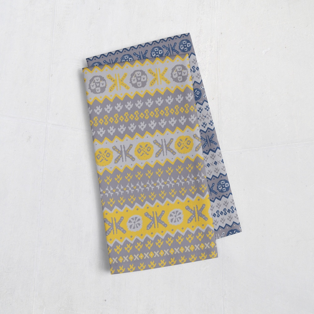 Granny's Fair Isle - Tea Towel - 2 colour options